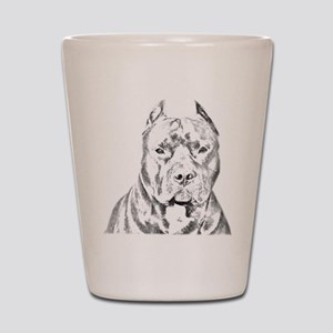 Pit Bull Head Shot Glass